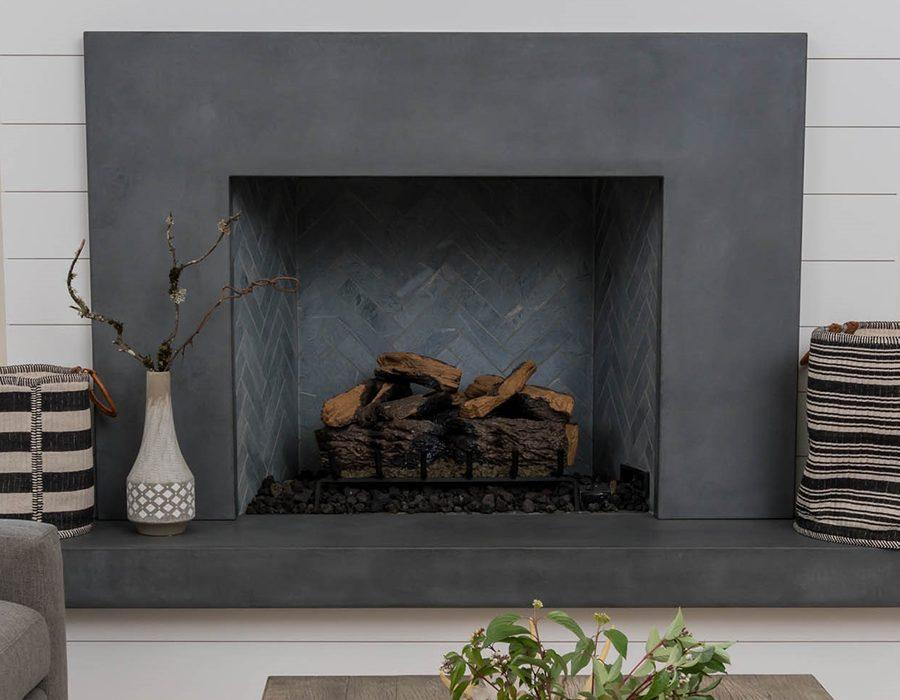 Stupendous Naturecast Concrete Fireplaces Cement Elegance Home Remodeling Inspirations Cosmcuboardxyz