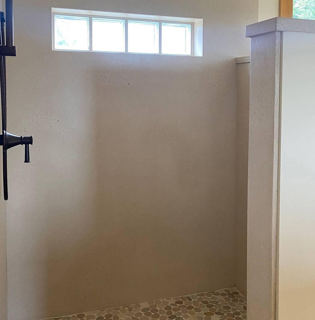 cement shower walls